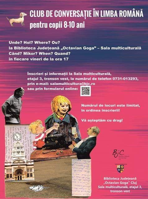 """Club de conversație în limba română, la Biblioteca Județeană """"Octavian Goga"""""""