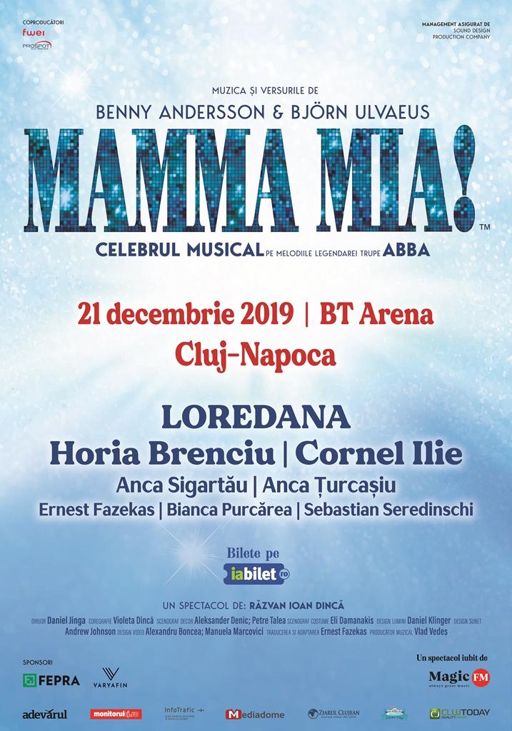 Spectacolul MAMMA MIA! de la BT Arena din Cluj-Napoca a fost reprogramat pe 21 decembrie