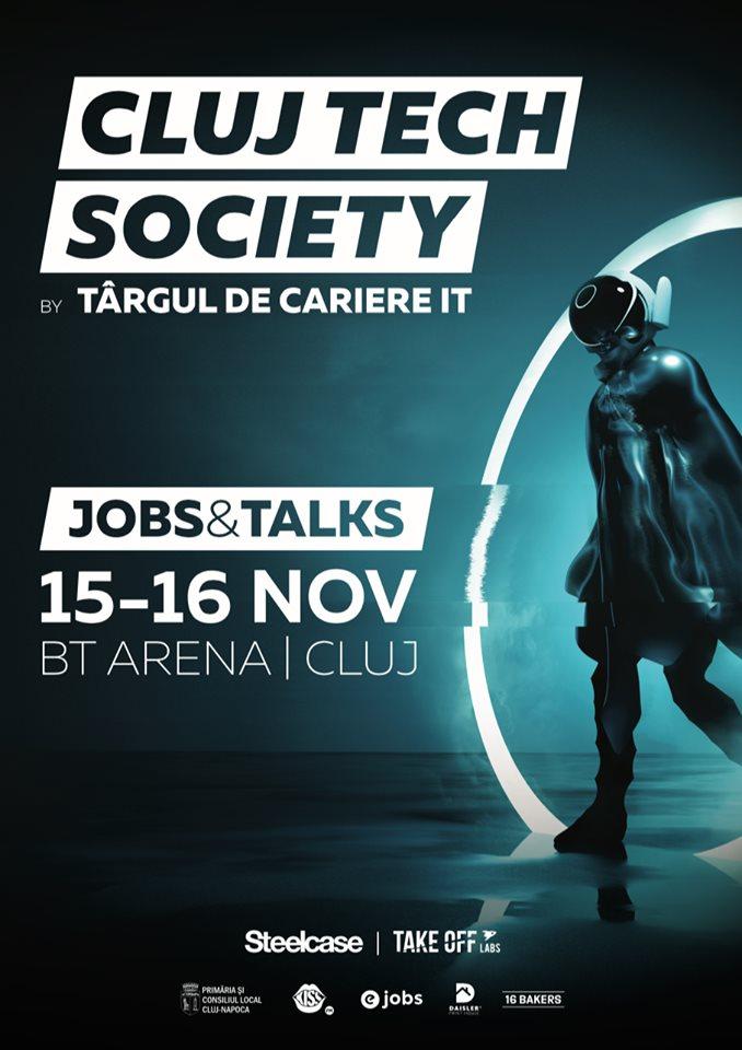 Cluj Tech Society, cel mai mare eveniment de recrutare și employer branding în IT din România, are loc la Sala Polivalentă din Cluj-Napoca