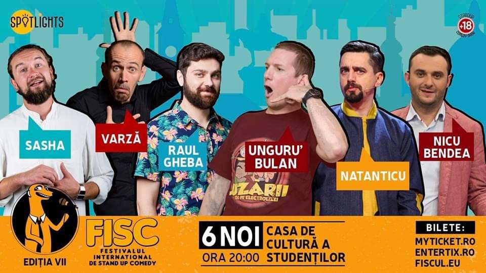 Vrei să râzi pe săturate? A şaptea ediţie FISC aduce un adevărat Maraton de Stand-Up Comedy la Casa de Cultură a Studenţilor din Cluj-Napoca