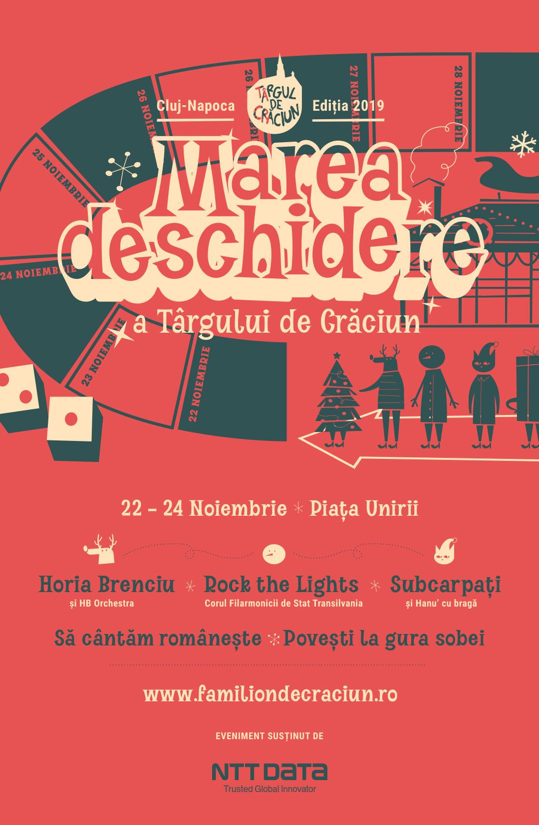 PROGRAM Târgul de Crăciun Cluj 2019. Horia Brenciu și Subcarpați, concerte în weekend-ul inaugural