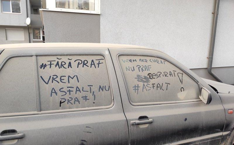 """Floreștenii s-au săturat de praf și ies duminică în stradă la protest pentru a cere de urgență asfaltarea """"Drumului de SUD"""""""