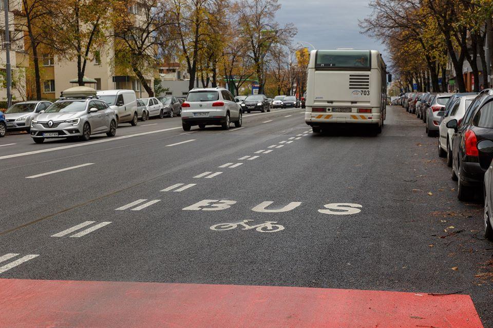 S-a inaugurat noua bandă de autobuze de pe Calea Floreşti