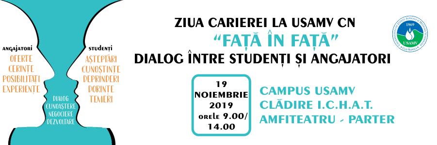 Ediția a II-a a Zilei Carierei la USAMV Cluj, pe 19 noiembrie