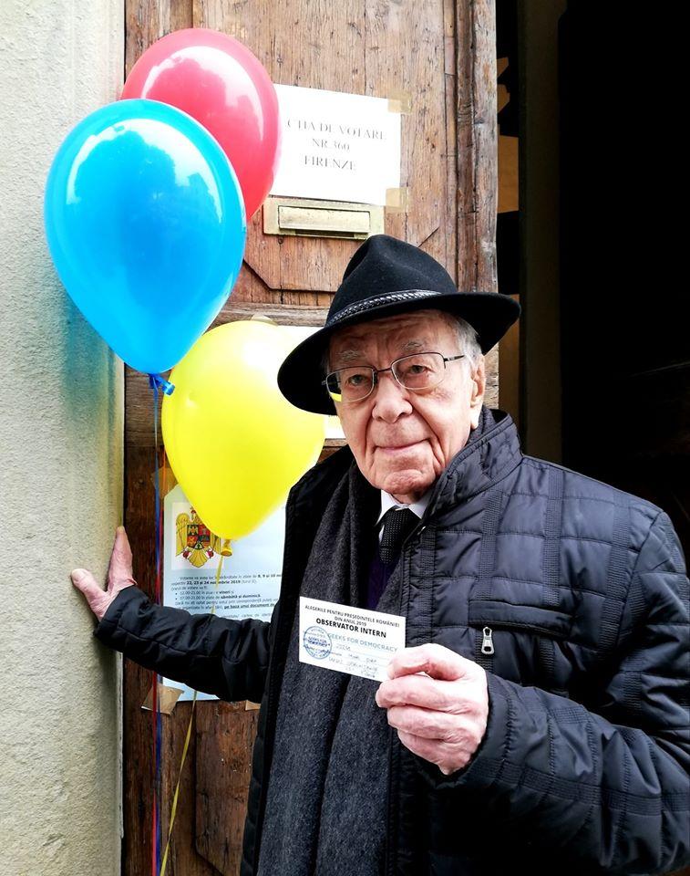 """Filosoful Mihai Şora, 103 ani, observator independent la prezidențiale 2019: """"Forţa noastră este votul"""""""