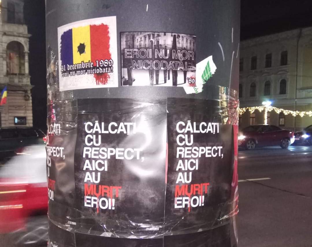 """Inițiativă civică pentru comemorarea victimelor Revoluției din '89 la Cluj: """"Călcați cu respect, aici au murit eroi"""" – FOTO"""