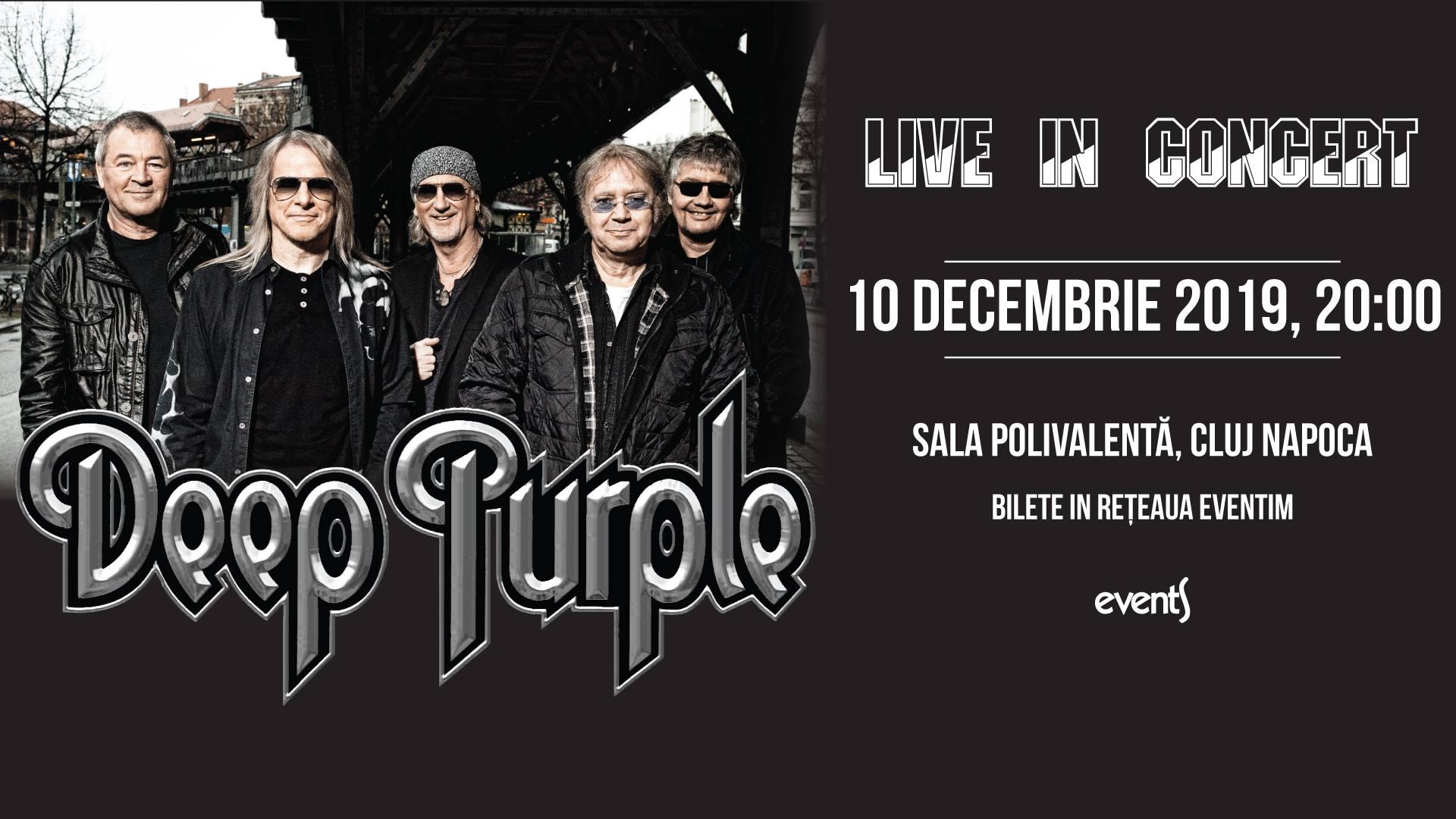 Ultimul concert major al anului la Cluj-Napoca: DEEP PURPLE, pe 10 decembrie, la BT Arena