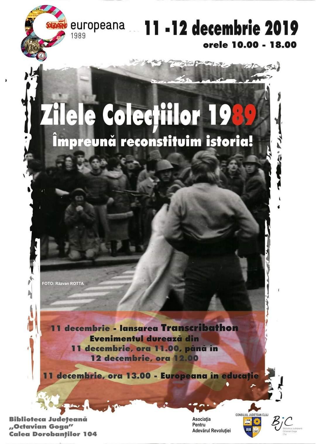 """La 30 ani de la Revoluție, Biblioteca Județeană """"Octavian Goga"""" organizează """"Zilele colecției 1989"""""""