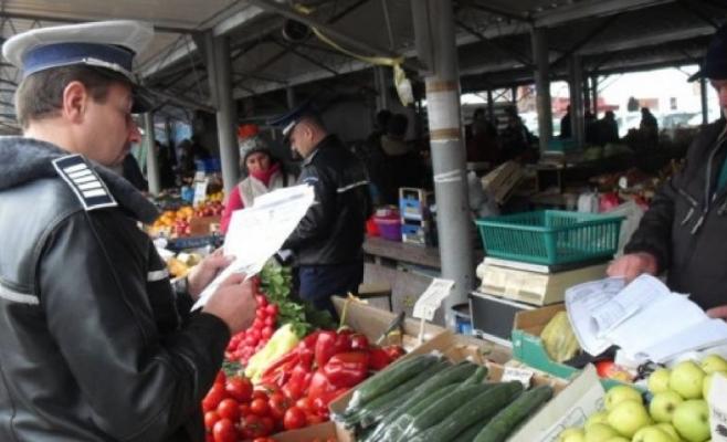 Polițiștii clujeni au făcut controale în piețe înainte de sărbători