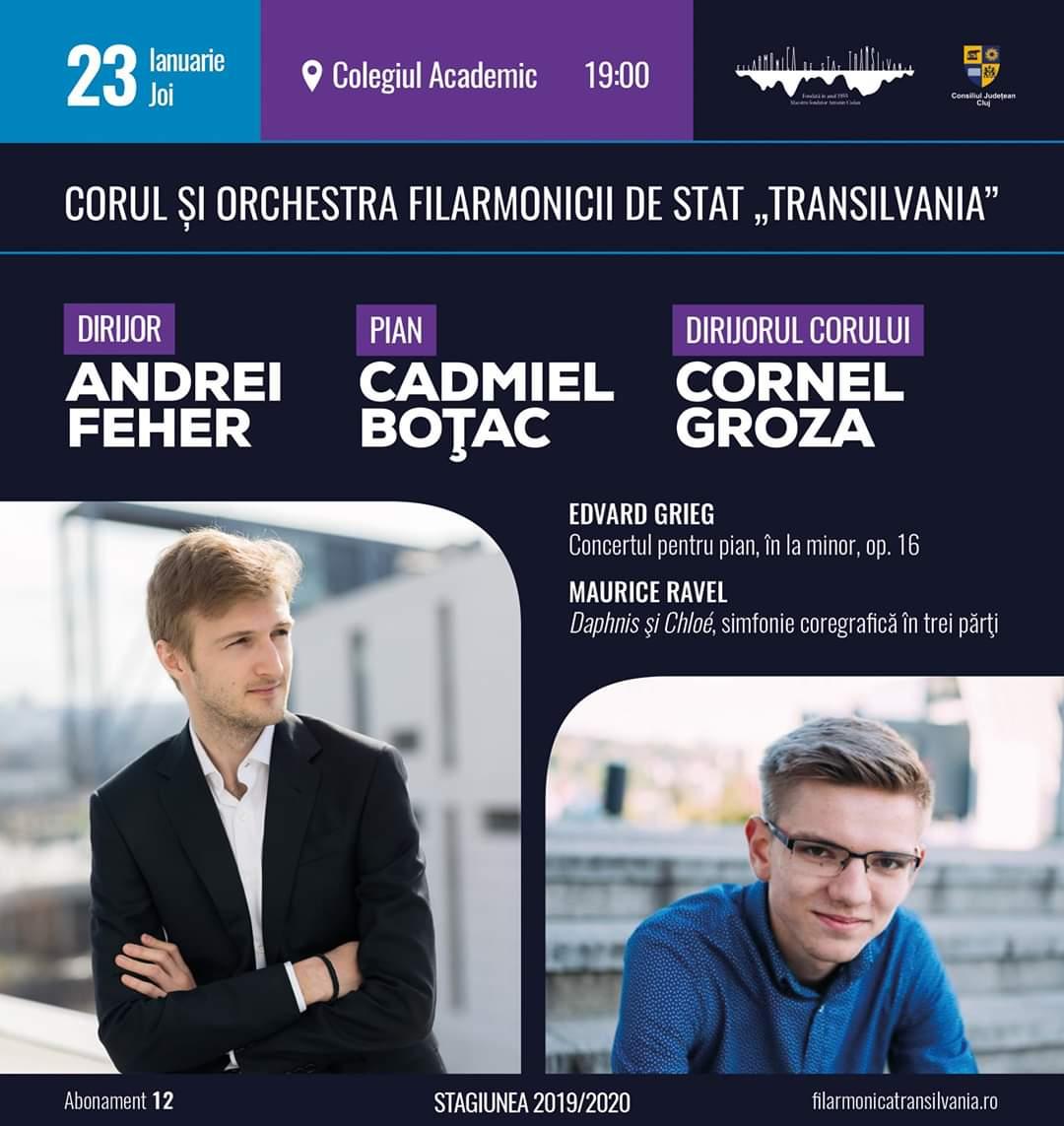 """Concert vocal-simfonic, dirijat de Andrei Feher, pe scena Filarmonicii de Stat """"Transilvania"""""""