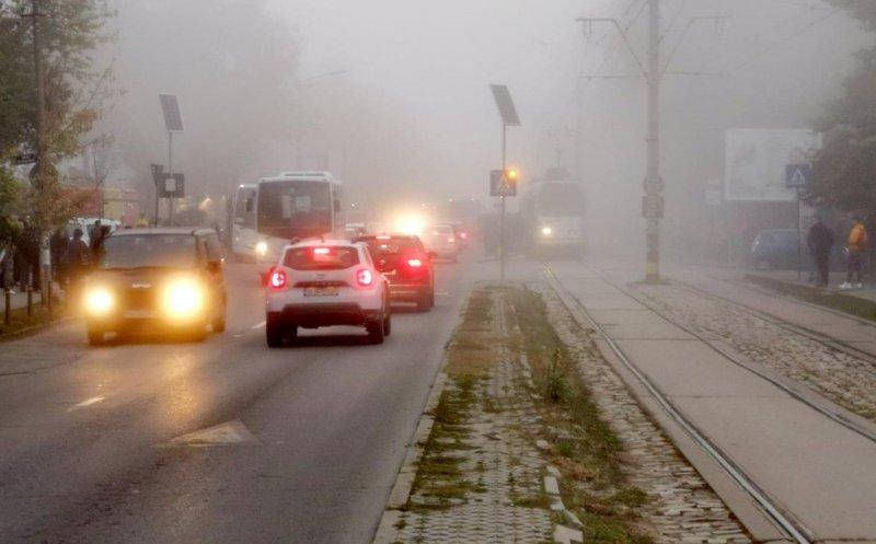 ANM: COD GALBEN de ceaţă densă şi vizibilitate scăzută la Cluj