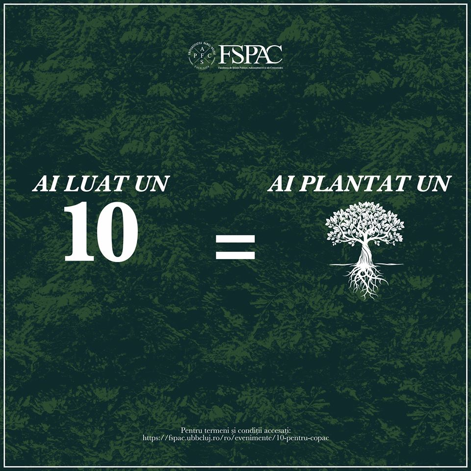 INEDIT. FȘPAC Cluj plantează câte un copac pentru fiecare 10 luat de studenți în sesiune