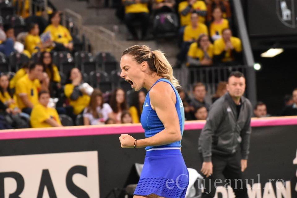 """România și Rusia, la egalitate după prima zi de Fed Cup la Cluj. Ana Bogdan a adus primul punct """"tricolorelor"""""""