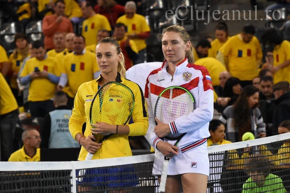 Ana Bogdan, învinsă de Alexandrova după un meci de mare luptă și Rusia a preluat conducerea în meciul de Fed Cup de la Cluj