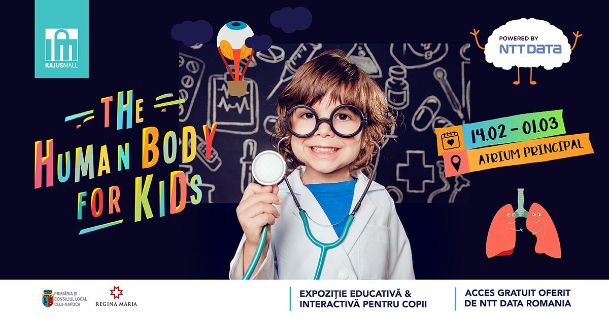 """Oferă-i copilului tău o experiență inedită, la expoziția """"The Human Body for Kids"""", de la Iulius Mall Cluj (P)"""