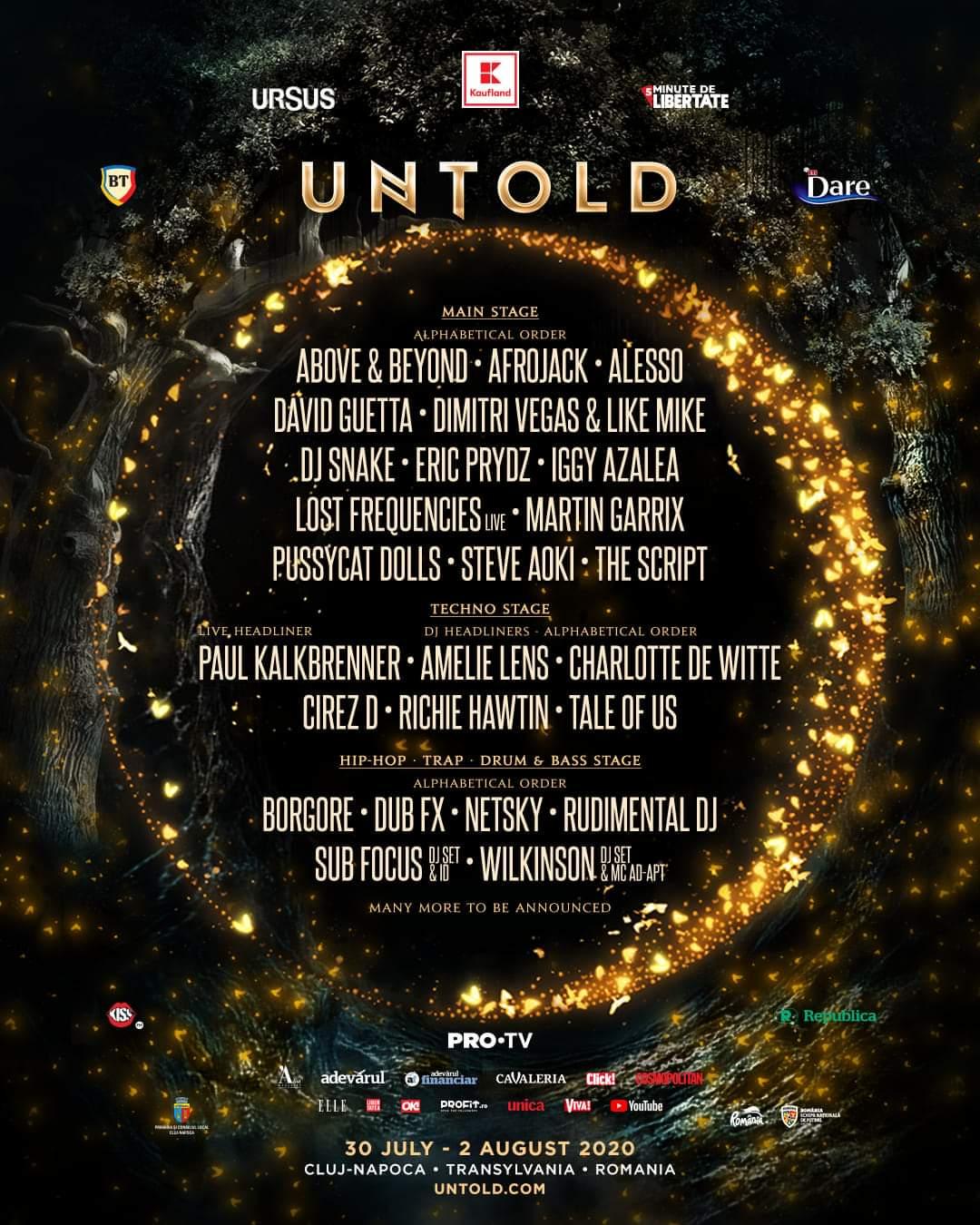 Primii artiști anunțați pentru ediția a 6-a a UNTOLD. The Pussycat Dolls, Iggy Azalea, Eric Prydz, Amelie Lens și Charlotte de White, în premieră în România, la Cluj
