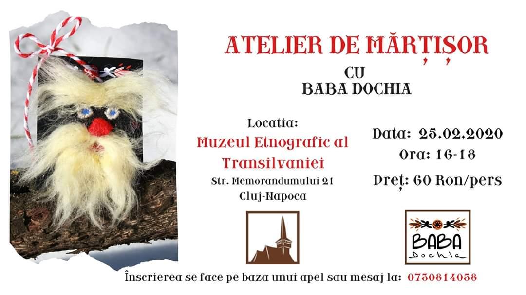 Atelier de Mărțișor cu Baba Dochia, la Muzeul Etnografic al Transilvaniei