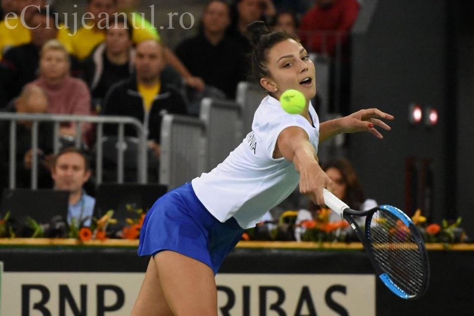 Debutantă în Fed Cup, Jaqueline Cristian a făcut un meci mare și obținut victoria în fața Kudermetovei, iar România a egalat Rusia la 2-2