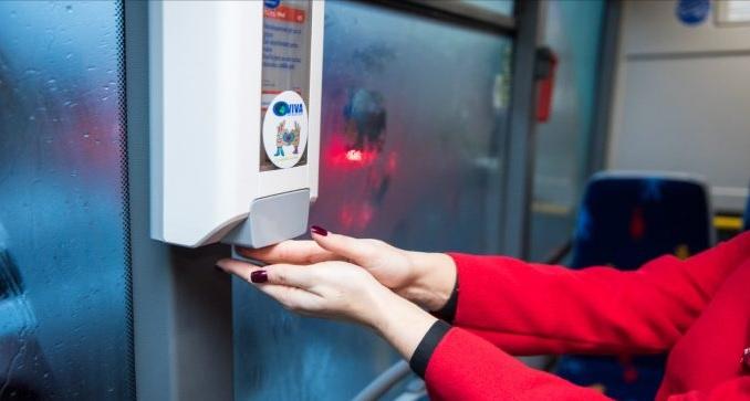 Turda a devenit primul oraș din România care a instalat dispensere cu dezinfectanți în autobuze!