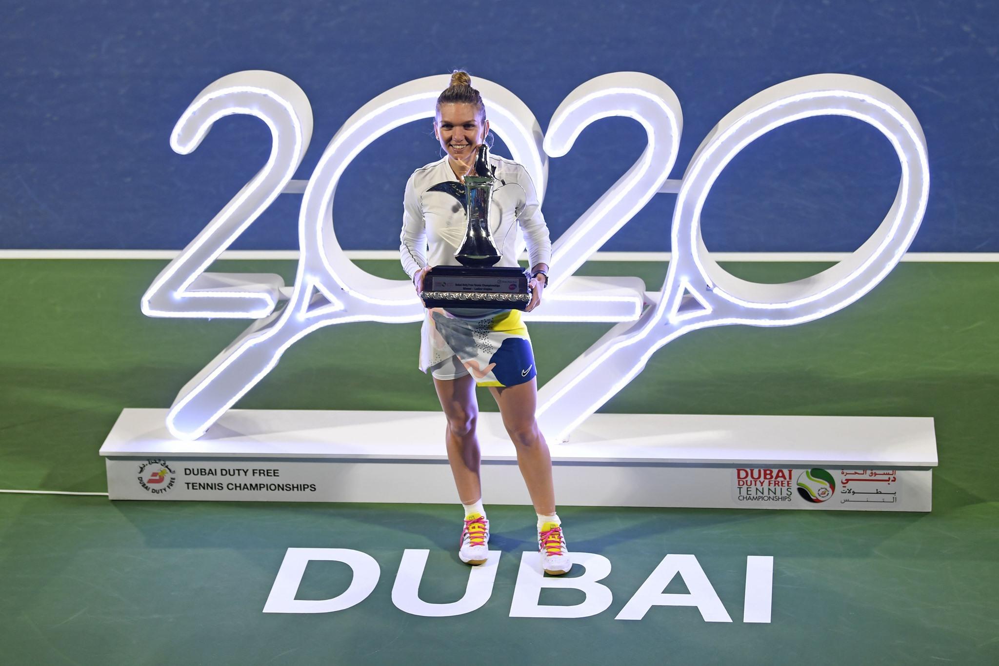 Simona Halep, aproape de locul 1 WTA după turneul câștigat din Dubai!