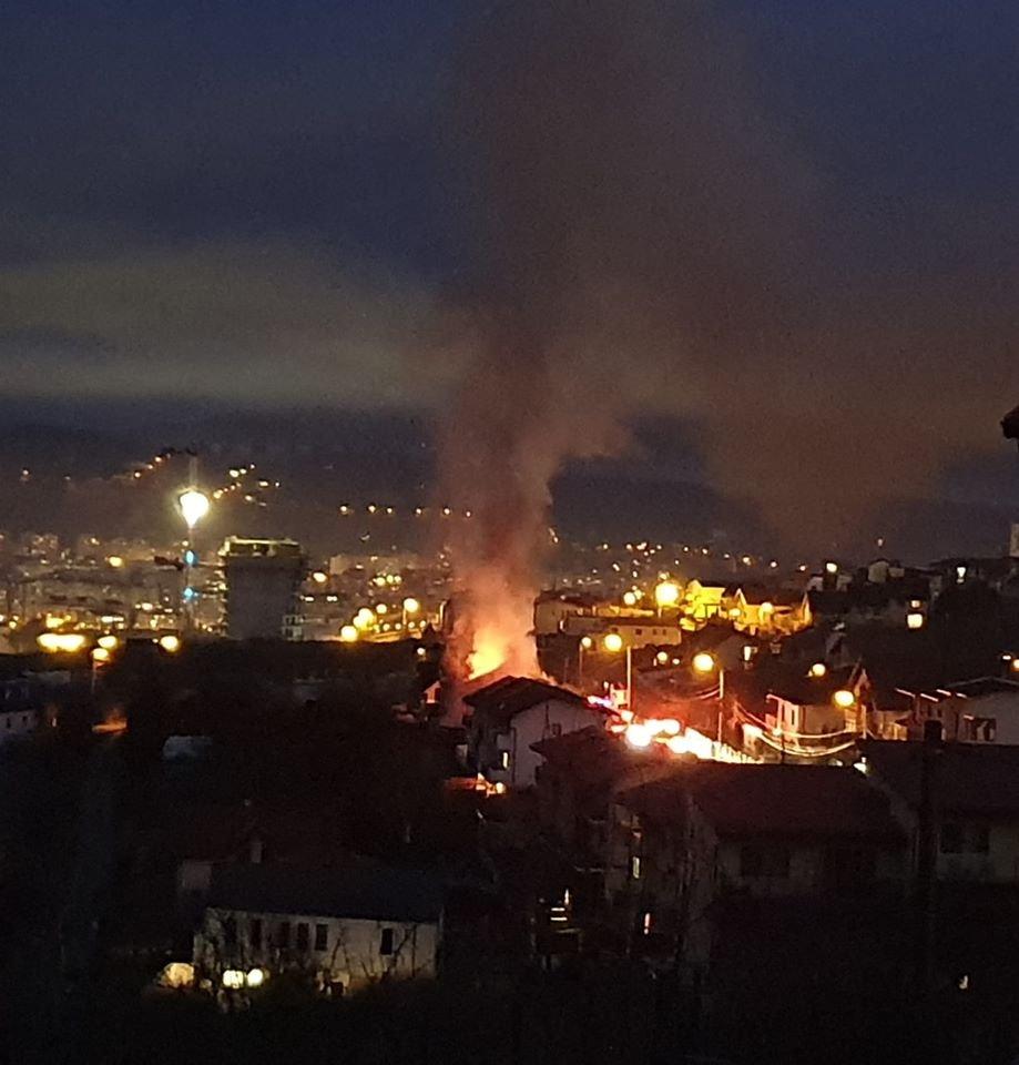 Incendiu în cartierul Europa din Cluj-Napoca