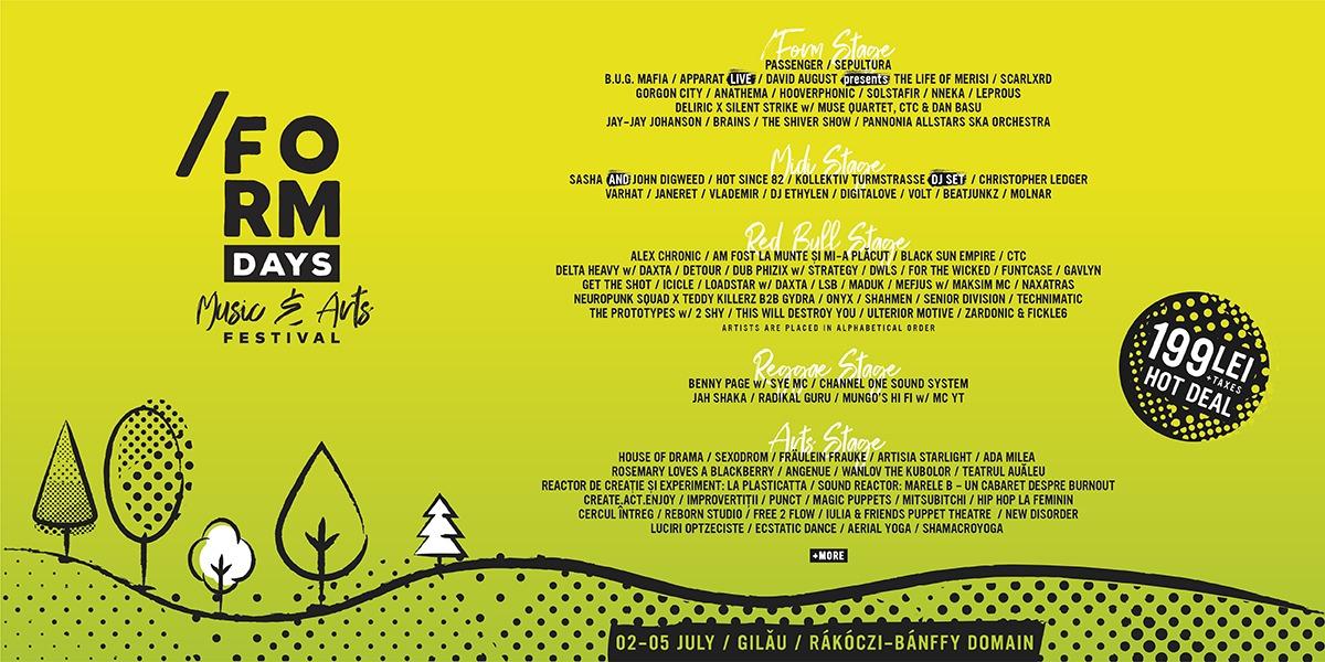 /FORM Days – Music and Arts Festival a anunțat al doilea val de peste 50 de artiști!   SEPULTURA,  Scarlxrd și Gavlyn, printre cei care vor urca pe scena castelului din Gilău