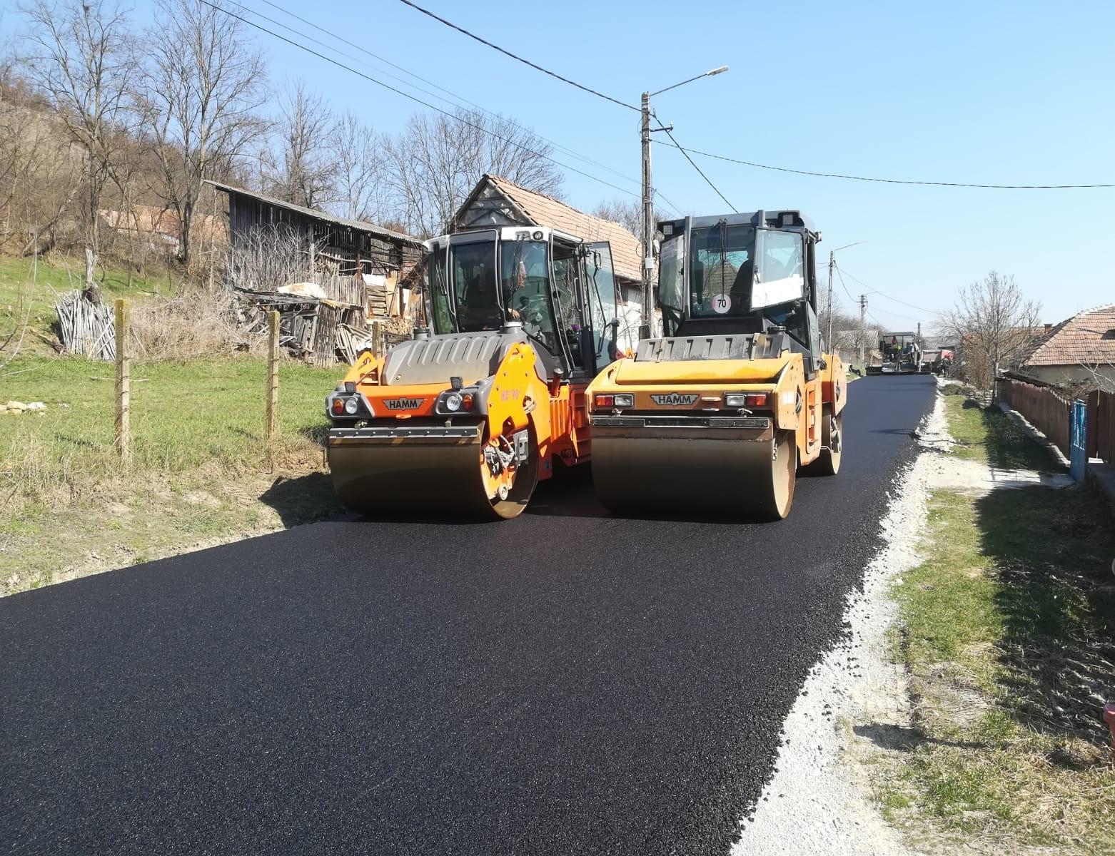Lucrările de asfaltare pe DJ 108C Gârbău – Aghireșu – Leghia au fost finalizate