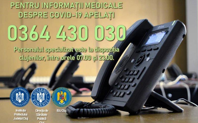 Veste bună. La Cluj s-a lansat linia telefonică pentru informații medicale de specialitate legate de COVID-19
