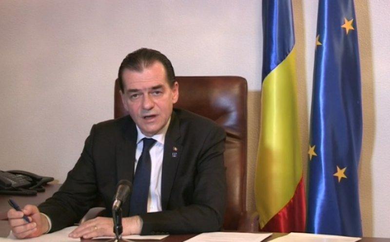 """Orban: """"Am relaxat acele restricţii care au cel mai mic risc epidemiologic. Terasele rămân închise"""""""