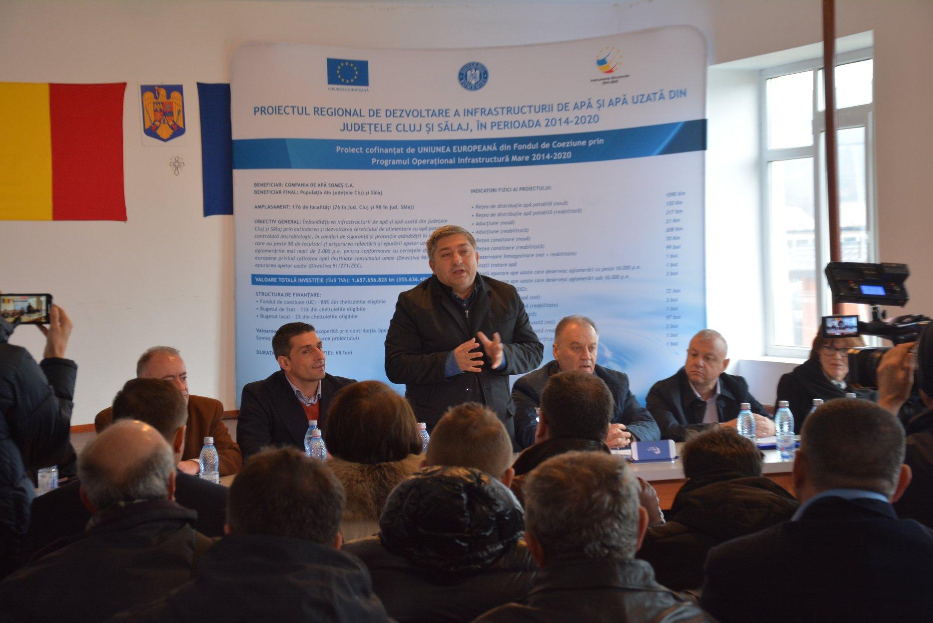 Consiliul Județean a semnat primul contract de lucrări din județul Cluj, aferent Proiectului regional de apă în valoare de 355,6 milioane de euro