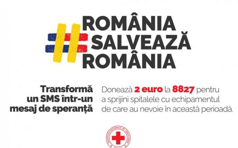 """Crucea Roşie inițiază campania de strângere de fonduri """"România salvează România"""""""
