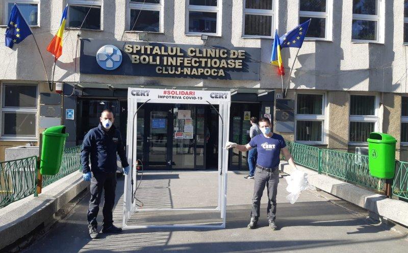 CERT Transilvania a instalat porți pentru decontaminare la încă trei spitale clujene