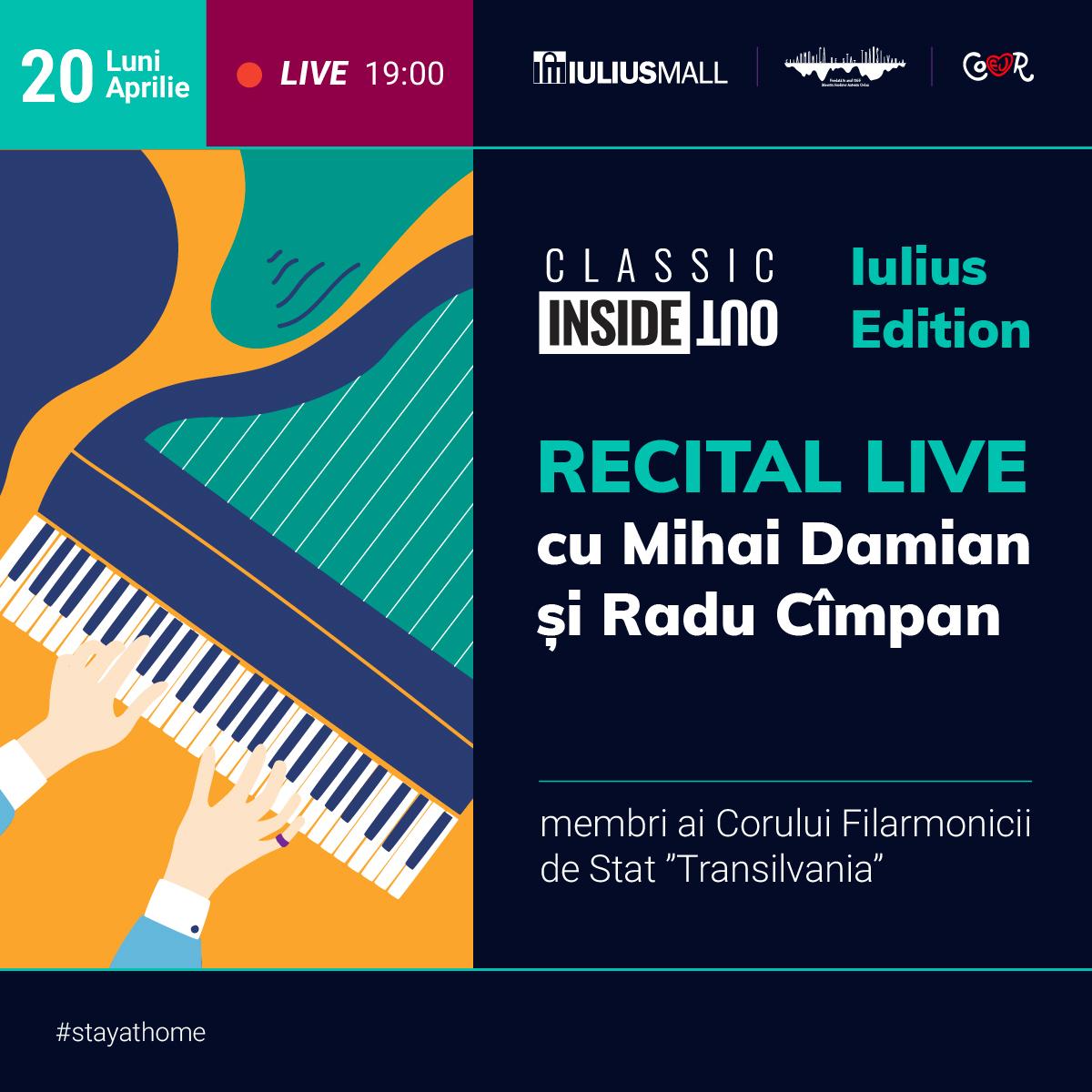 Muzica reunește! Recital online al Filarmonicii Transilvania, pe pagina de Facebook a Iulius Mall Cluj