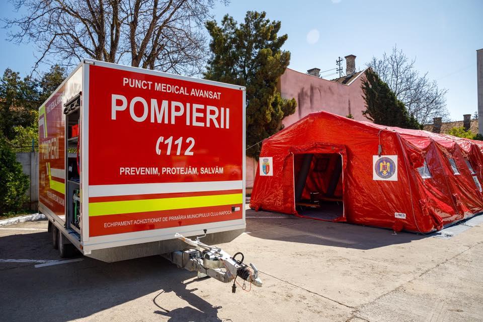 Premieră națională la Cluj în plină pandemie de COVID-19. Punct medical mobil de ultimă generație achiziționat pentru ISU Cluj
