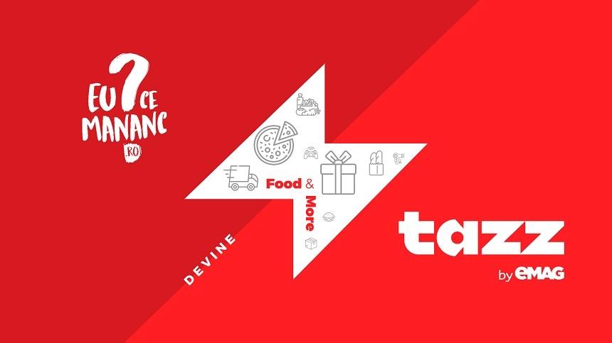 """Aplicația EuCeMananc devine """"Tazz by eMAG"""" şi extinde livrarea într-o oră cu produse alimentare şi pentru casă"""