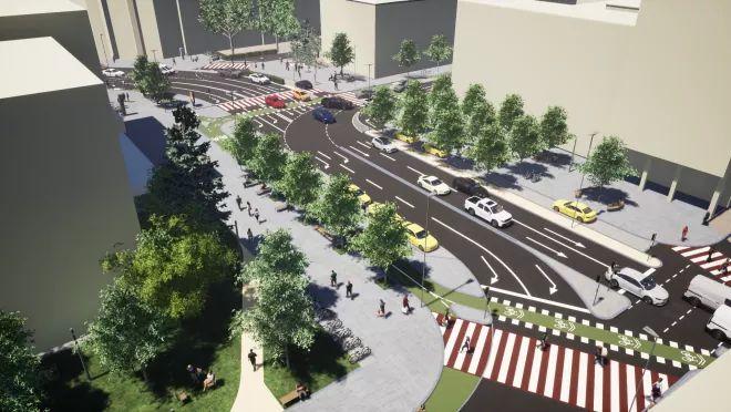 Au început lucrările de modernizare a Pieței Lucian Blaga. Cum va arăta zona? FOTO