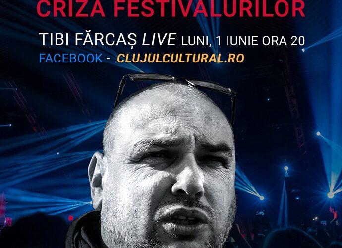 Clujul Cultural Live pe Facebook. Despre situația marilor festivalurilor și organizarea de evenimente, puternic lovite de criza COVID-19. Invitat: Nelu Brândușan