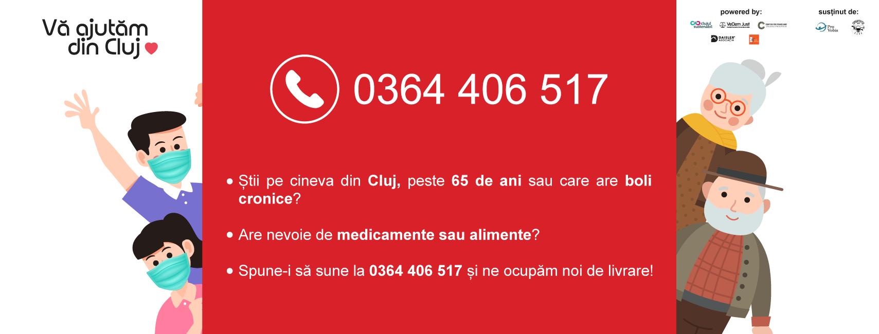 """Inițiativa civică """"Vă ajutăm din Cluj"""" a donat în prima lună 537 de pachete cu alimente și medicamente către 345 de persoane fizice aflate în nevoie"""