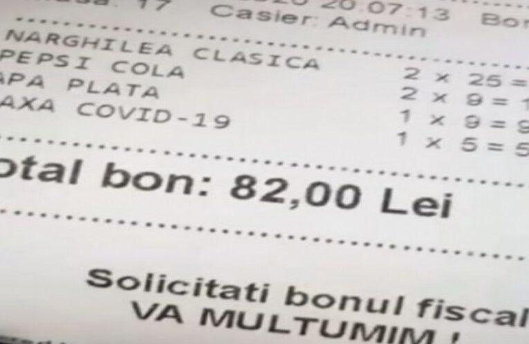 Un patron de terasă a fost sancționat de ANPC pentru că a inclus taxa COVID-19 pe bonul fiscal