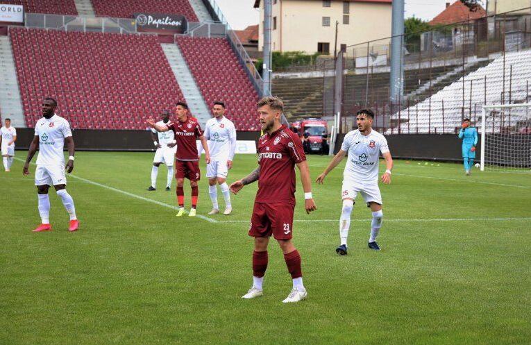 Victorie la limită pentru CFR Cluj în primul amical după starea de urgență, 2-1 cu FC Hermannstadt! Urmează derby-ul cu FCSB