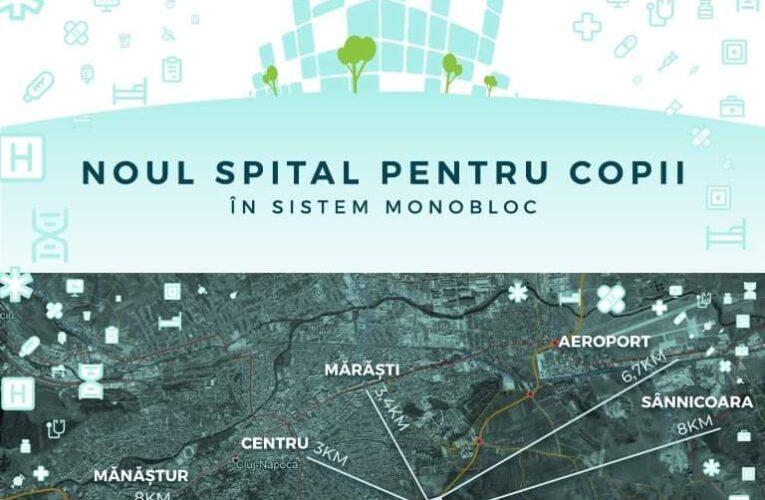 Finanțarea integrală a Spitalului Pediatric Monobloc din Cluj a ajuns pe masa ministrului Fondurilor Europene