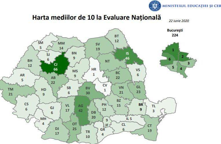 Numai elevi silitori la Cluj. Suntem județul cu cele mai multe medii de 10 din provincie la EVALUARE NAȚIONALĂ 2020