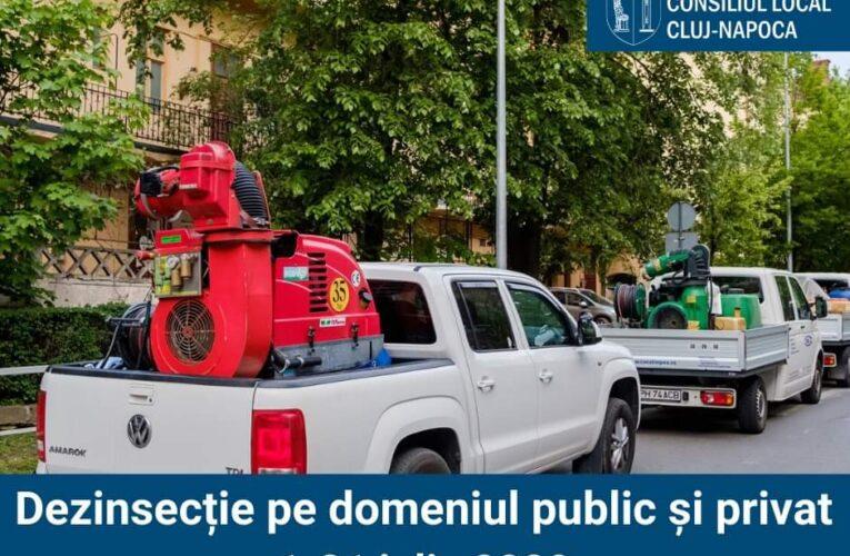 O nouă acțiune de dezinsecție a început astăzi la Cluj-Napoca