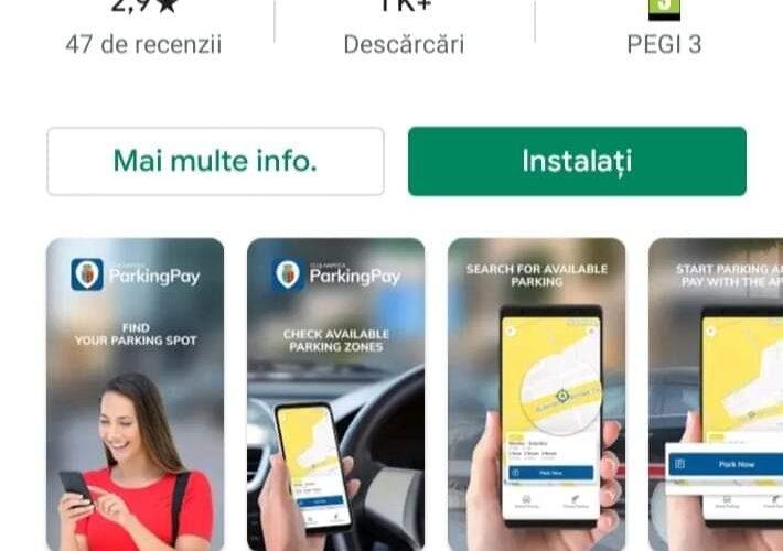 Clujenii au la dispoziție o aplicație online pentru plata parcării în zona 1 și 2 a orașului