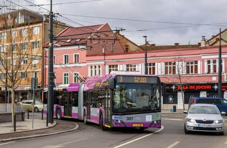 Noi linii de troleibuze introduse în Cluj-Napoca