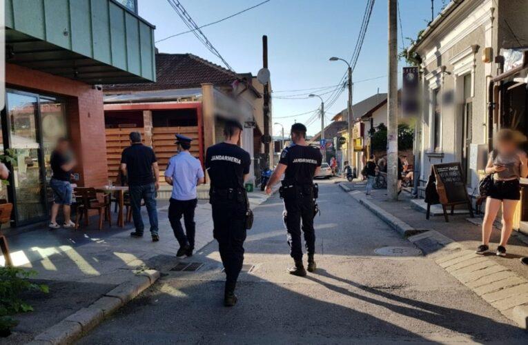 RAZII pe terasele din Cluj-Napoca pentru respectarea măsurilor de distanțare socială