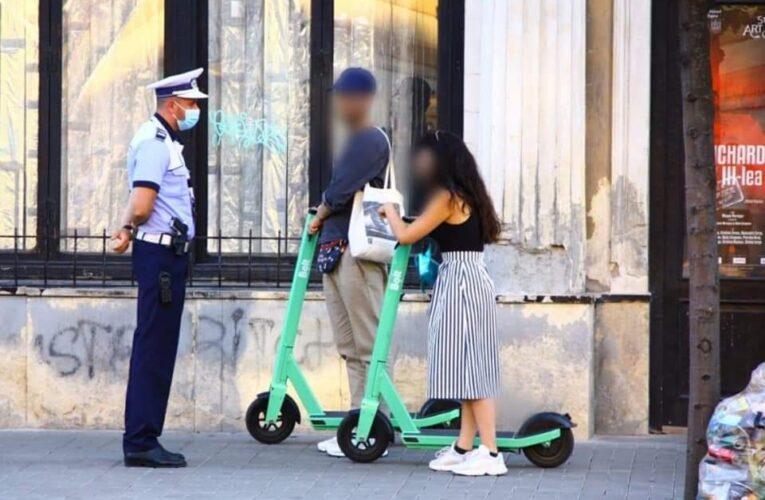 """Sancțiuni pentru """"trotiniștii"""", bicicliștii și șoferii din Cluj care nu respectă regulile de circulație"""