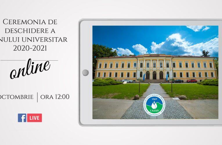 Ceremonie restrânsă și transmisă online la deschiderea anului universitar 2020-2021, la USAMV Cluj-Napoca