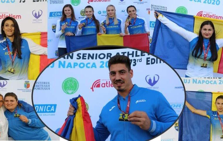 29 de medalii pentru sportivii români în cadrul Campionatului Balcanic de Atletism, desfășurat în weekend, pe Cluj Arena