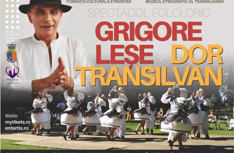 """Grigore Leșe va susține un recital în Parcul Etnografic """"Romulus Vuia"""", alături de ansamblul Dor Transilvan"""